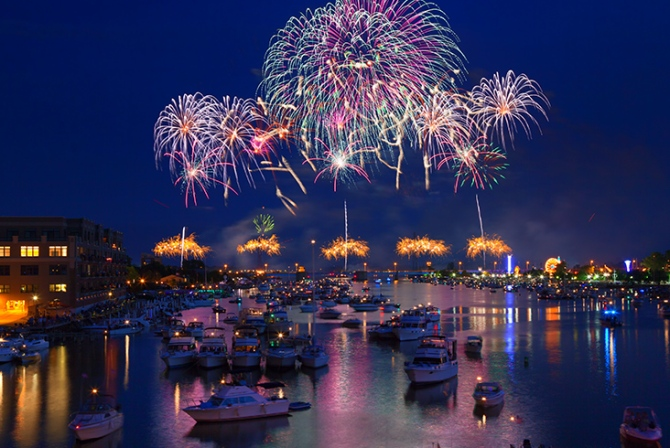 Fireworks Over Bay
