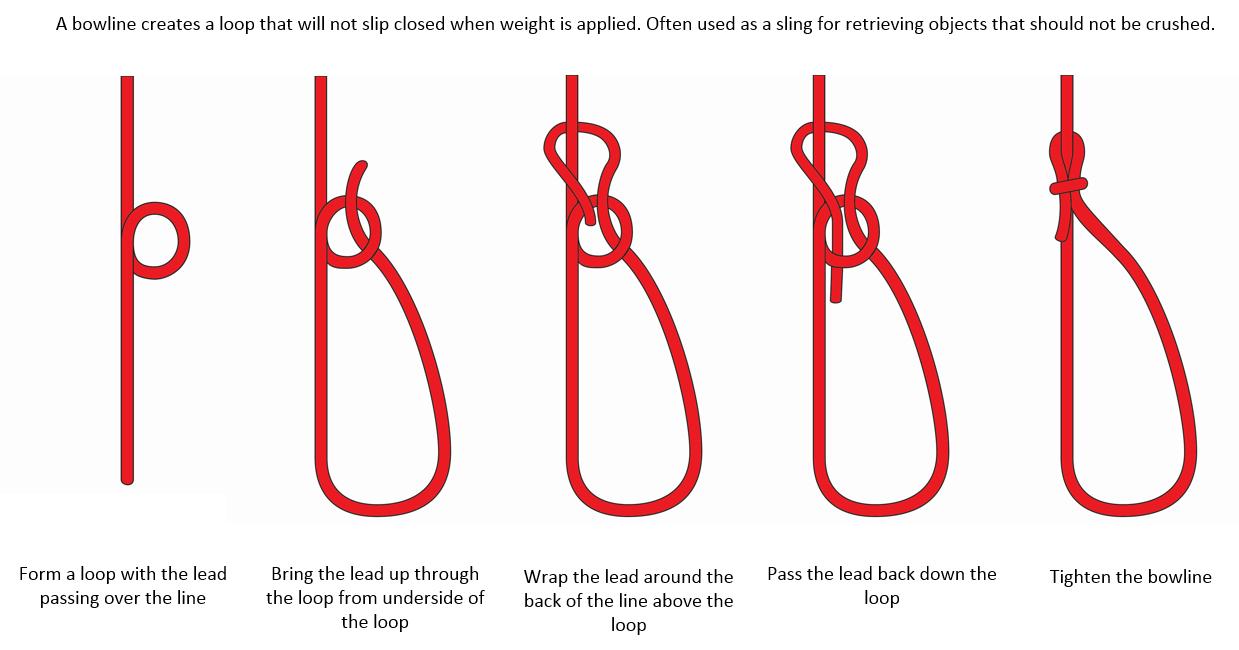 Terrific How To Tie A Bowline Knot Diagram Basic Electronics Wiring Diagram Wiring Database Ilarigelartorg