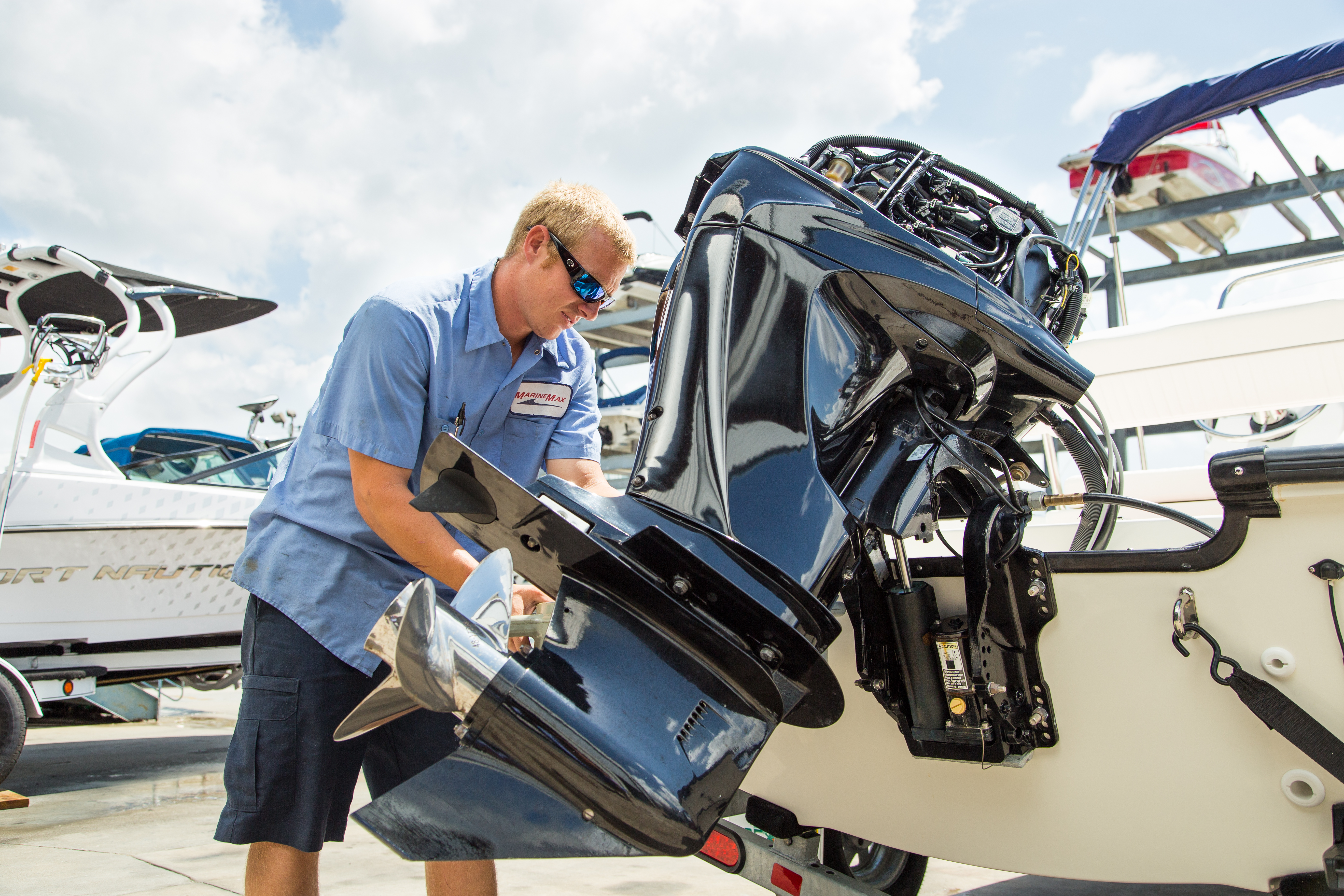 Keeping your outboard in top condition marinemax for Outboard boat motor repair