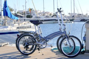 two-folding-bikes-at-marina